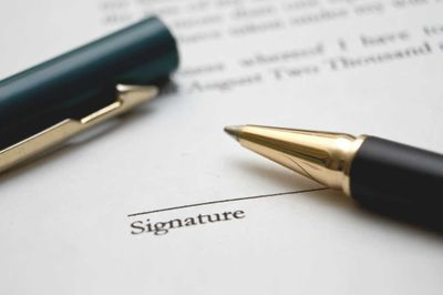 Signing a Power of Attorney
